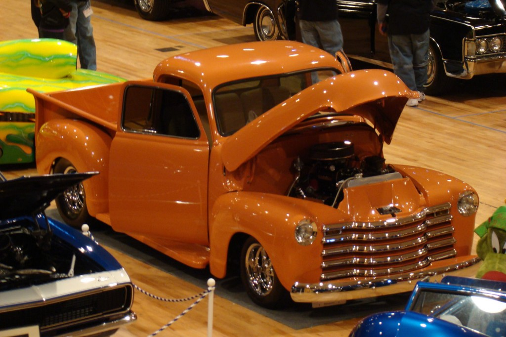 1949 Chevy 5 window pick-up on a S-10 frame