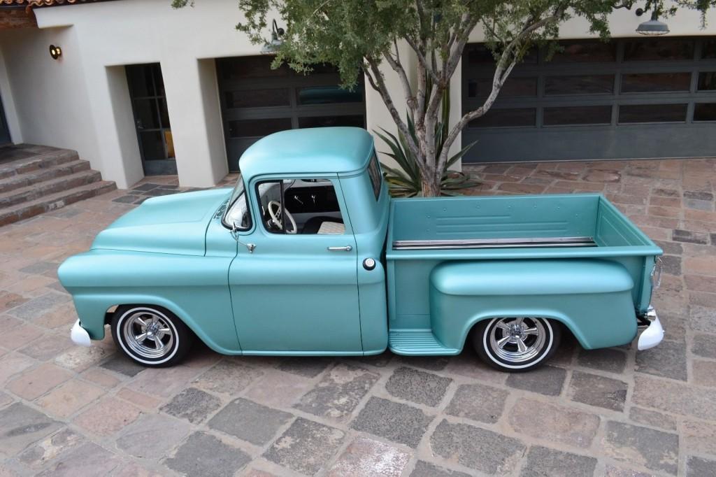 1959 chevy apache pickup truck 3100 shortbed custom hot rat rod for sale. Black Bedroom Furniture Sets. Home Design Ideas