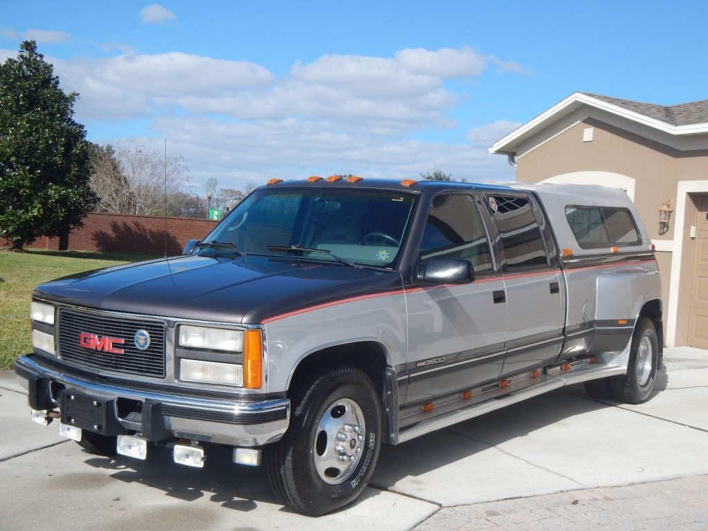 1993 gmc sierra 3500 crew cab 6 5 turbo diesel dually for sale. Black Bedroom Furniture Sets. Home Design Ideas