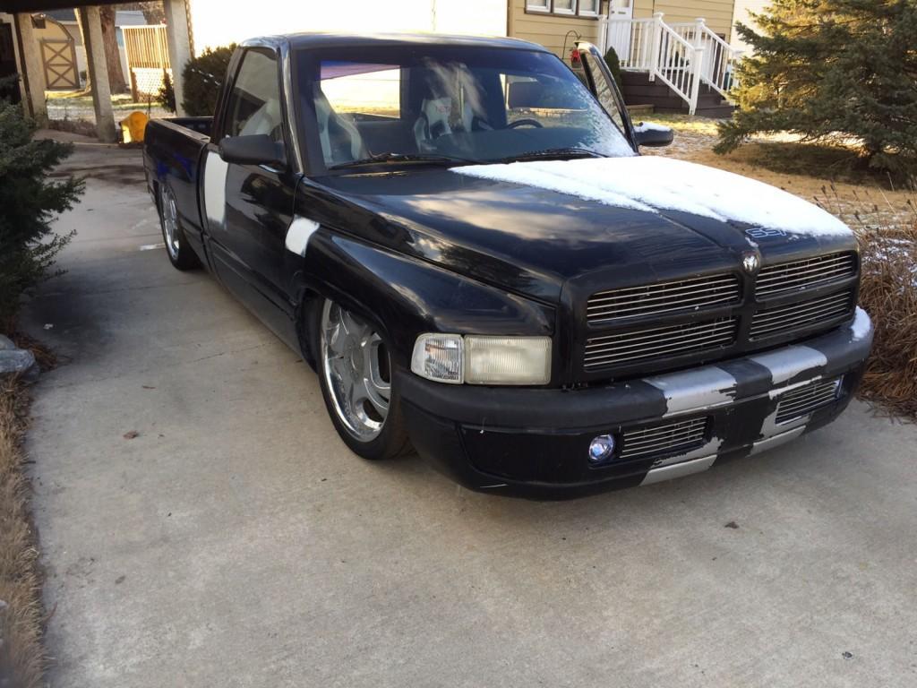 Trucks For Sale: 1997 Dodge Ram 1500 SST Bagged Shop Truck For Sale