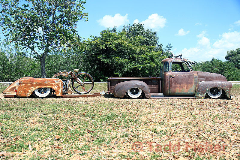 1948 Chevy Rat Rod And Custom Bike For Sale