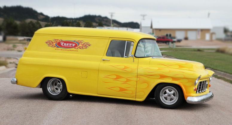 1955 Chevy Panel Pro Street Custom Truck For Sale