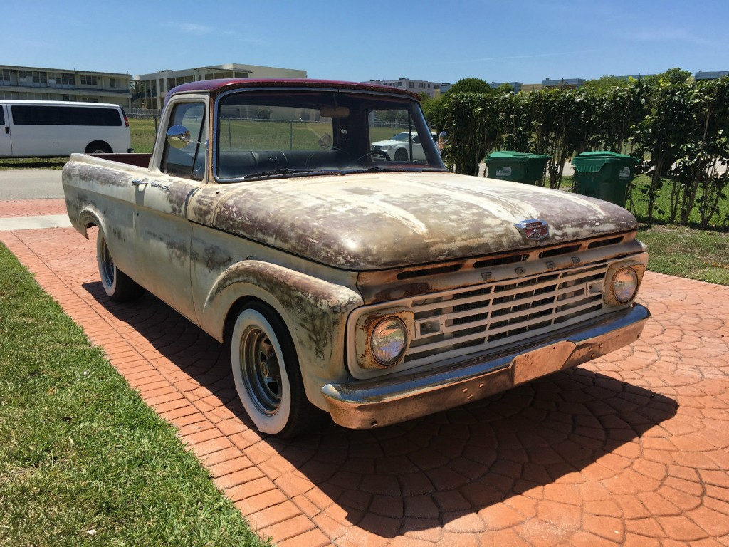 1963 ford f 100 unibody patina truck for sale. Black Bedroom Furniture Sets. Home Design Ideas