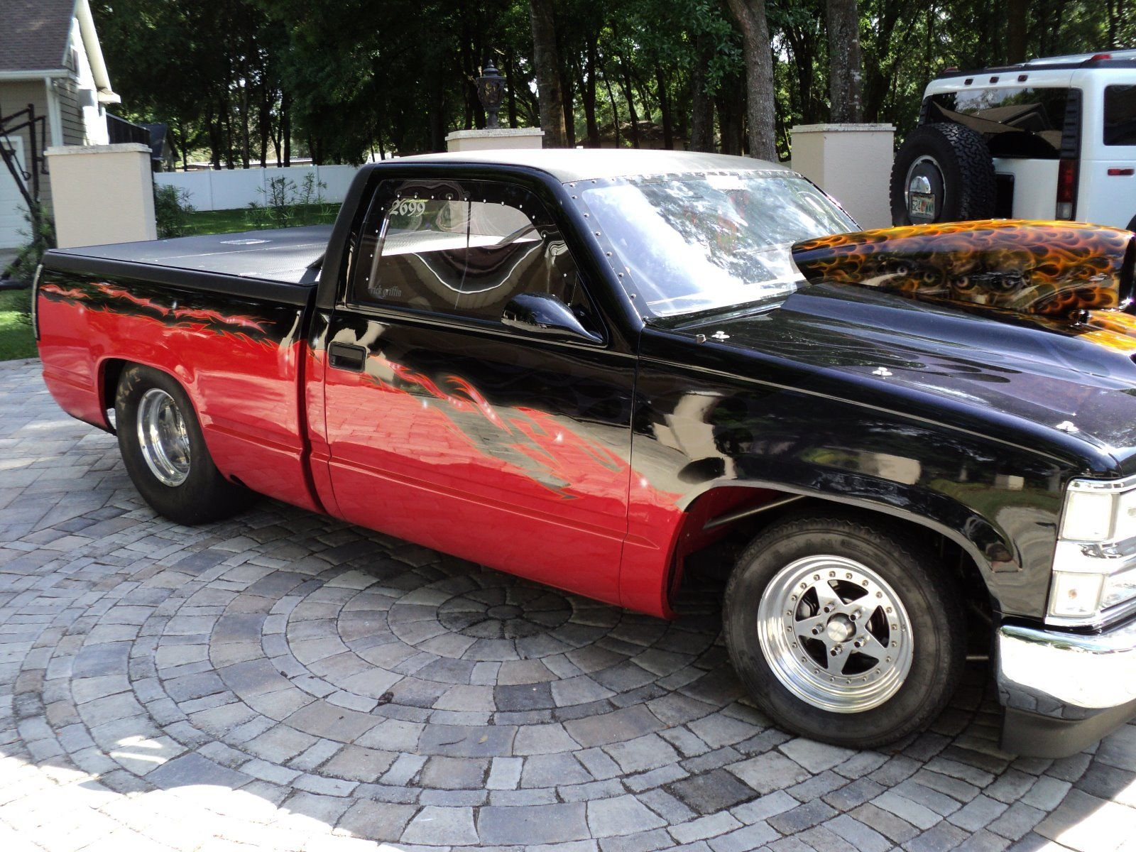 1993 chevrolet silverado 1500 pk chopped truck roller for sale. Black Bedroom Furniture Sets. Home Design Ideas