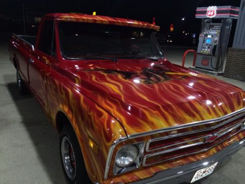 Custom 1968 Chevrolet C-10 (with flames paintjob) for sale