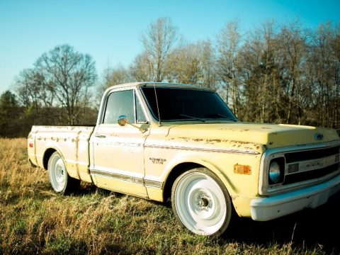 Yellow custom 1969 Chevrolet C10 for sale