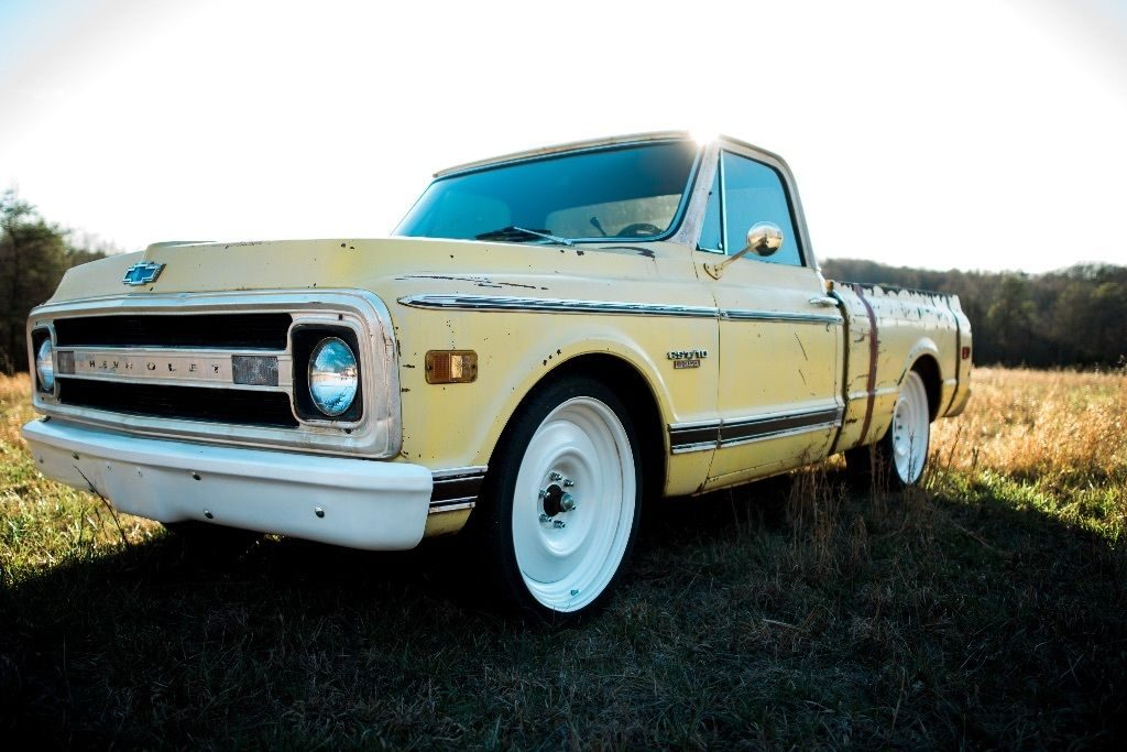 Yellow custom 1969 Chevrolet C10 for sale