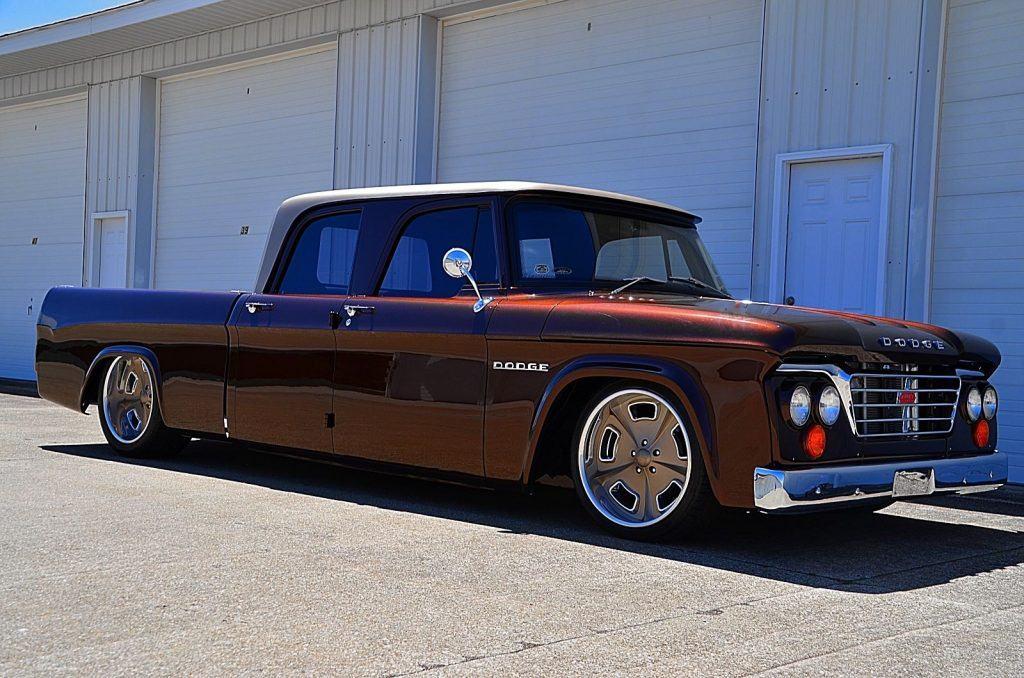 Fantastic 1962 Dodge Pickups CREW CAB custom jaw dropper