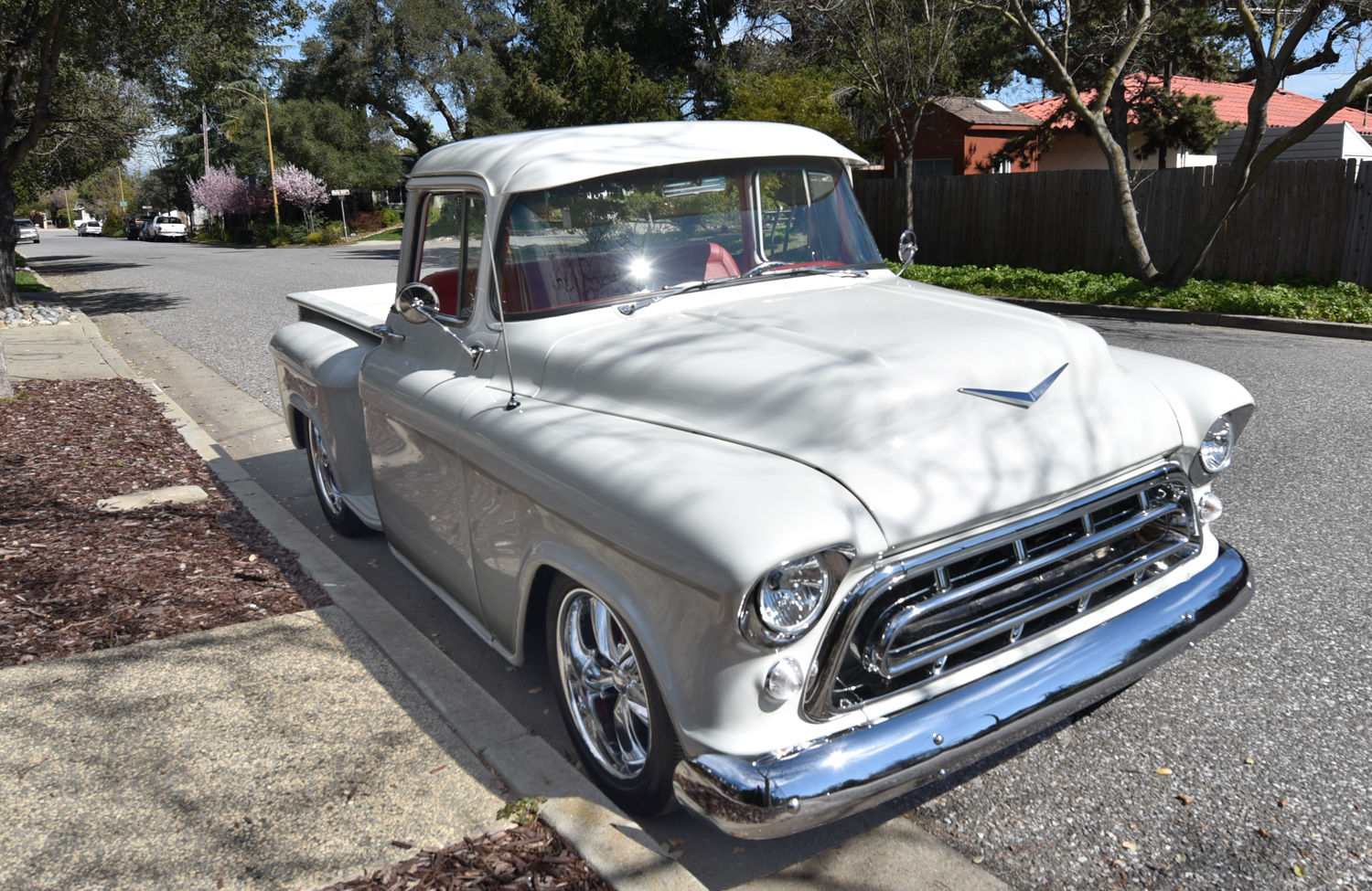 freshly build 1957 chevrolet pickup custom cab big window for sale. Black Bedroom Furniture Sets. Home Design Ideas