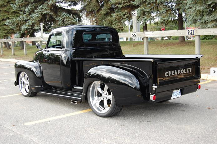 Lowered 1949 Chevrolet Pickup on air