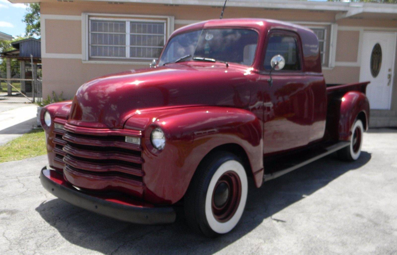 restored 1952 chevrolet custom extended cab pickup for sale. Black Bedroom Furniture Sets. Home Design Ideas