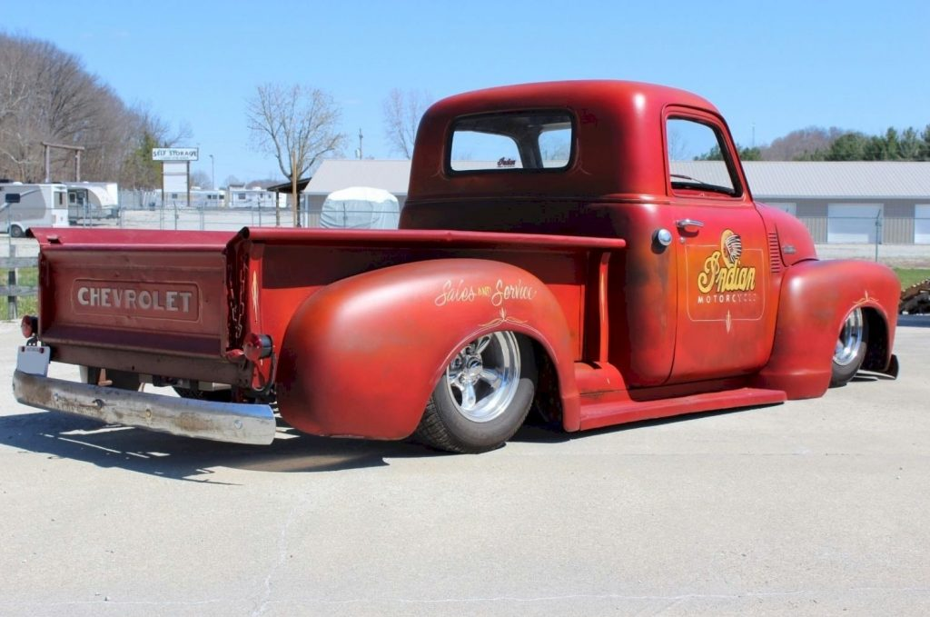 badass head turner 1949 chevrolet pickups 3100 custom truck for sale. Black Bedroom Furniture Sets. Home Design Ideas