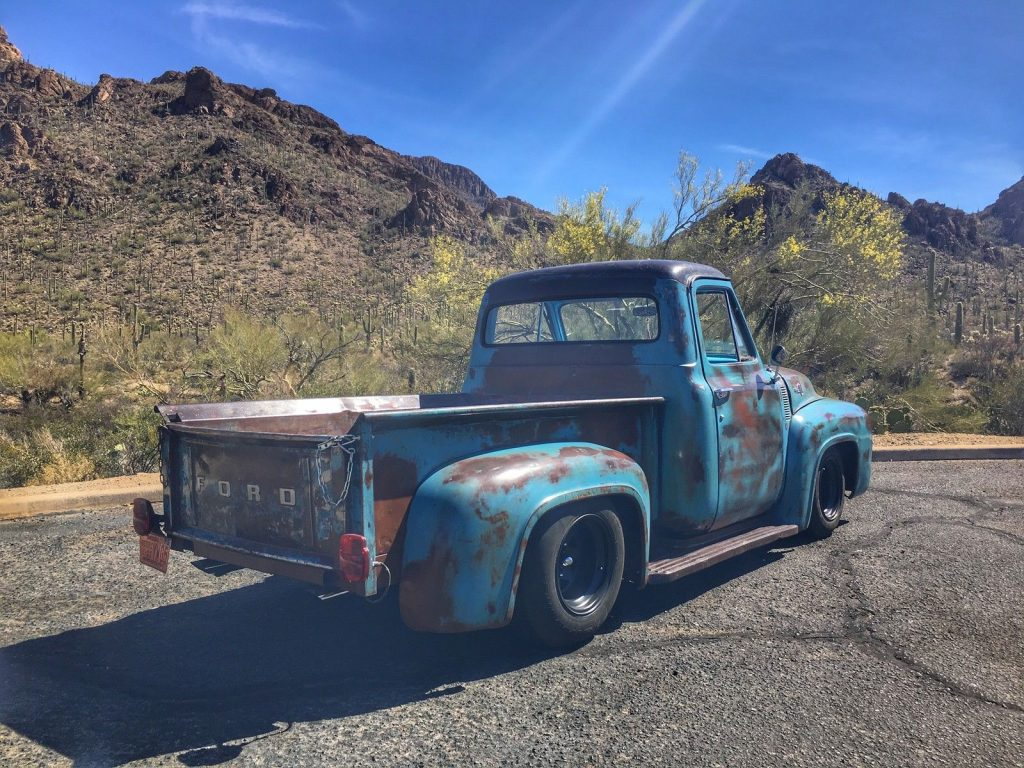 nice patina 1955 ford f 100 step side custom pickup truck for sale. Black Bedroom Furniture Sets. Home Design Ideas