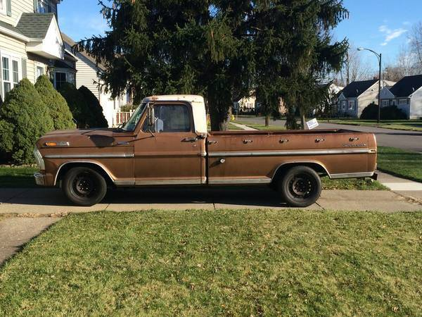 Vintage Looking 1972 Ford F 100 Camper Special Custom For Sale