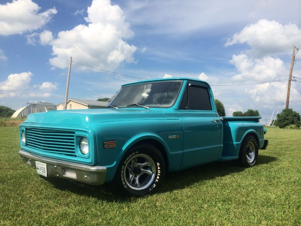 great condition 1972 chevrolet c 10 custom pickup for sale. Black Bedroom Furniture Sets. Home Design Ideas