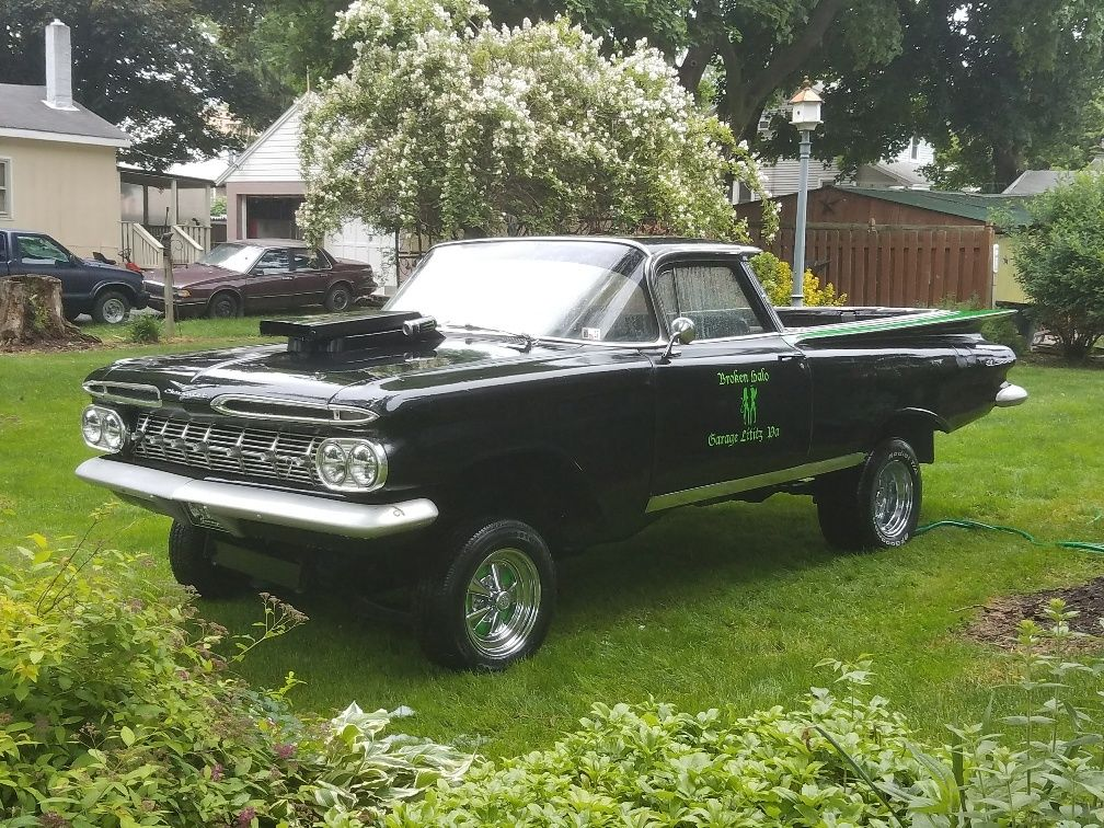 newer chassis 1959 chevrolet el camino for sale. Black Bedroom Furniture Sets. Home Design Ideas