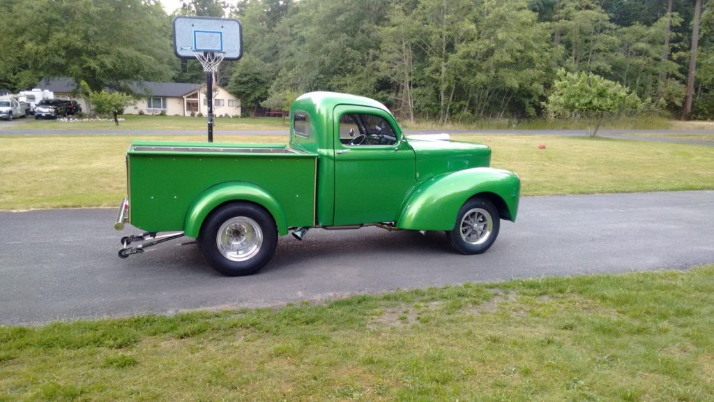 Old school 1941 Willys pick up custom truck