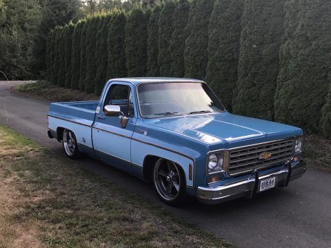 bored out 350 1976 Chevrolet C 10 Cheyenne custom hot rod for sale