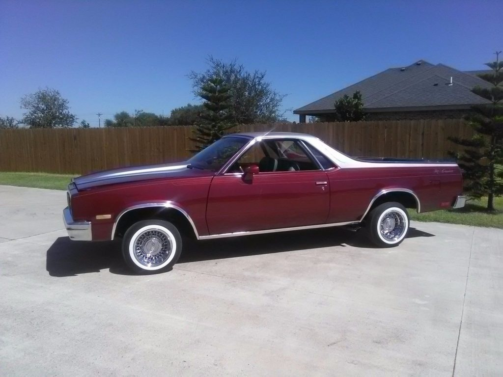 fresh paint 1984 Chevrolet El Camino custom truck