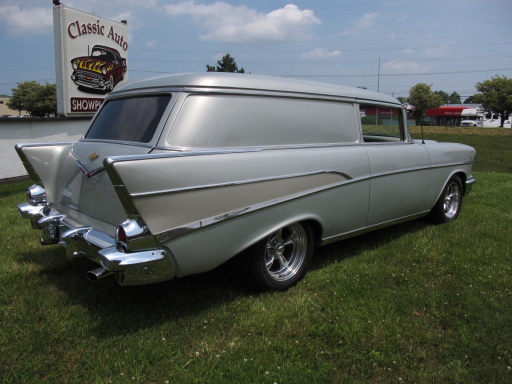 detailed restoration 1957 Chevrolet Sedan Delivery Custom truck