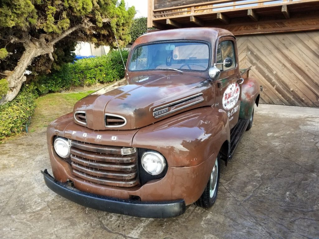 old school cruiser 1949 ford f 100 f1 classic custom for sale. Black Bedroom Furniture Sets. Home Design Ideas