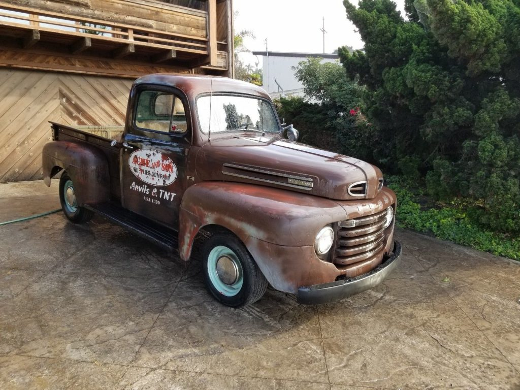 Old School Cruiser 1949 Ford F 100 F1 Classic Custom For Sale Coe Truck