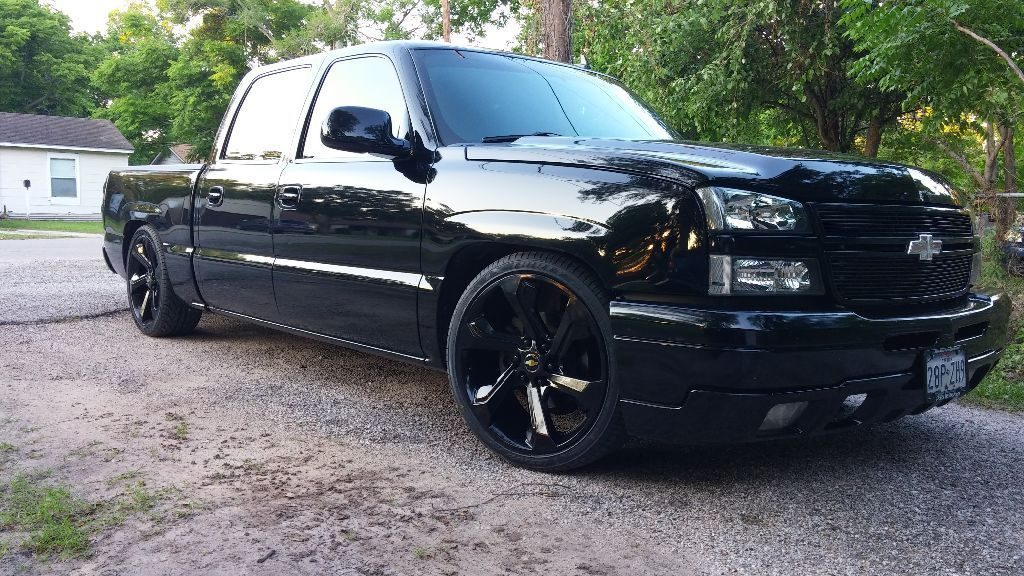 blacked out 2006 chevrolet silverado 1500 lt1 pickup custom for sale. Black Bedroom Furniture Sets. Home Design Ideas