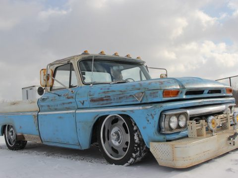 restomod with patina 1965 GMC custom truck for sale