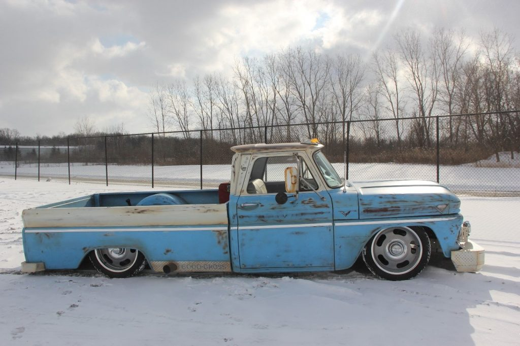restomod with patina 1965 GMC custom truck