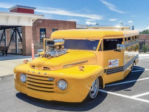 wanna be cool? stay in school! 1949 Ford custom bus for sale