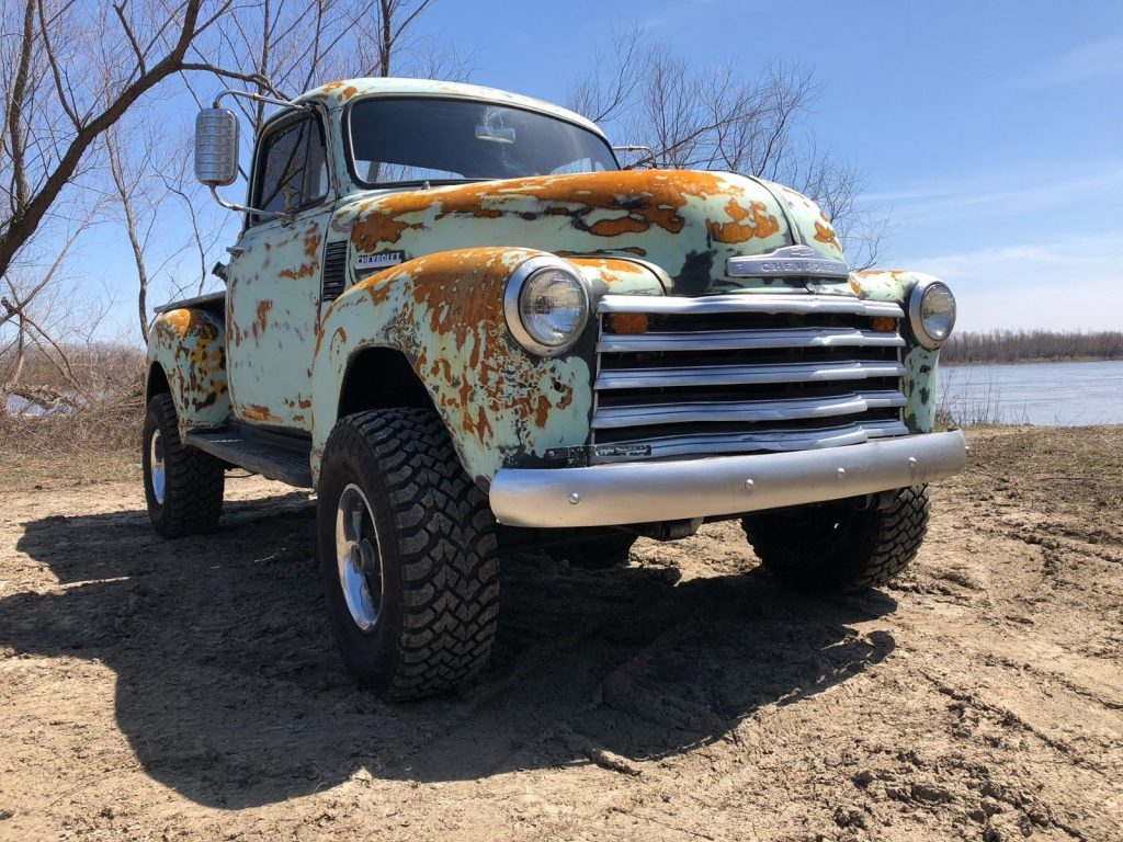 Bad Ass Patina 1954 Chevrolet custom pickup for sale