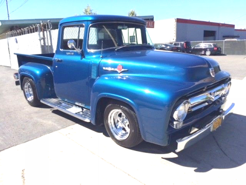fresh paint 1956 Ford F 100 Custom Cab Big Window custom truck for sale