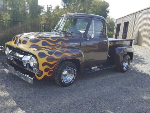runs and drives 1954 Ford Pickups F100 custom truck for sale