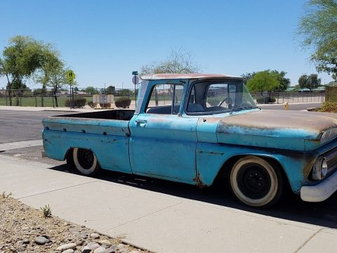air ride 1960 Chevrolet Pickups Fleetside patina custom truck for sale