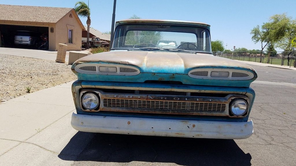 air ride 1960 Chevrolet Pickups Fleetside patina custom truck