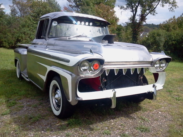 polished steel 1959 Chevrolet Apache Pickup Custom