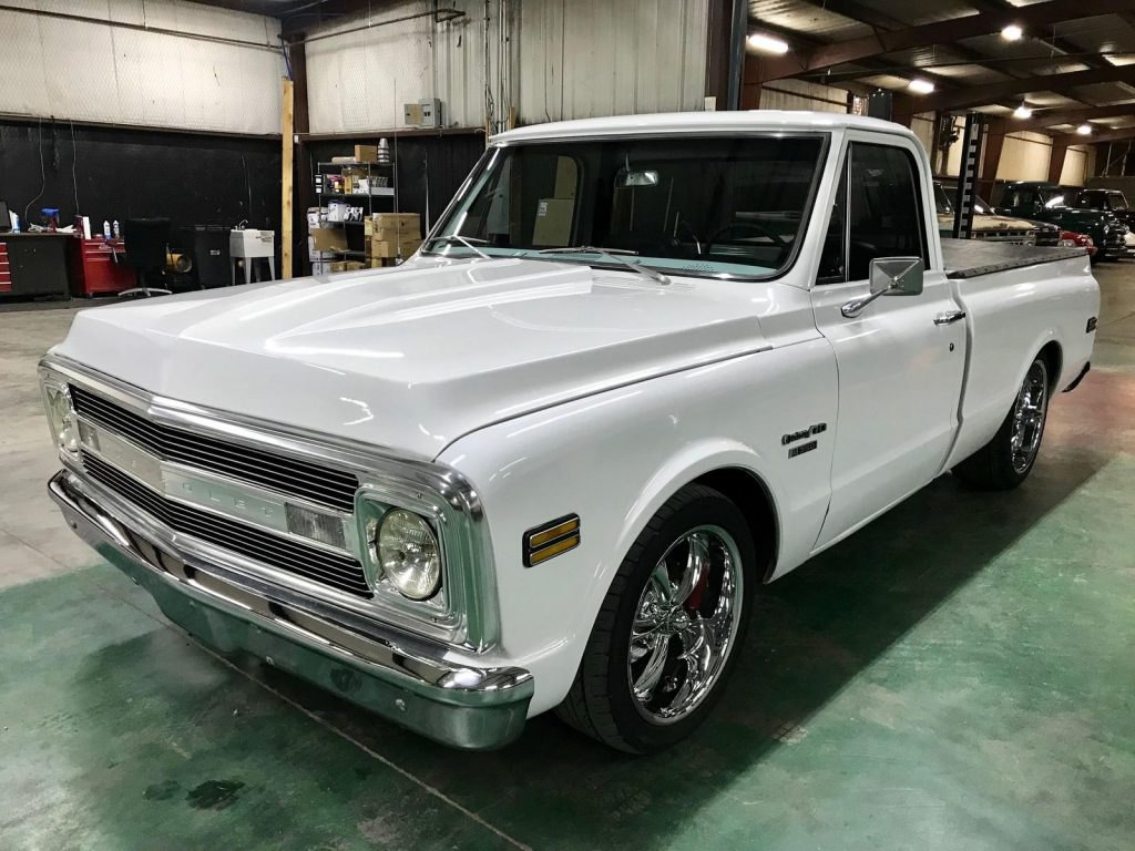 Solid classic 1969 chevrolet c 10 short bed custom for sale for Classic beds for sale