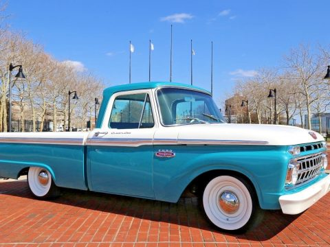Bagged restomod 1965 Ford F 100 custom truck for sale