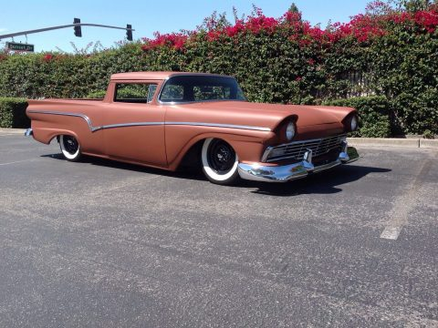 lowered 1957 Ford Ranchero custom truck for sale