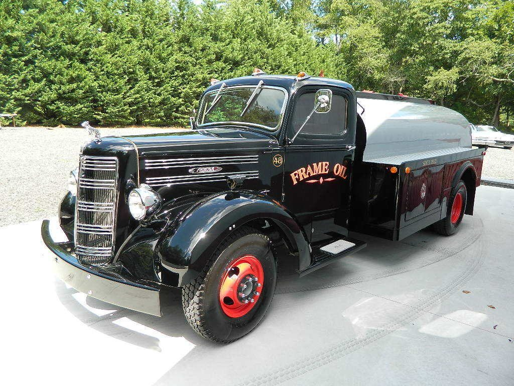 newer chassis 1948 Mack EF oil custom truck
