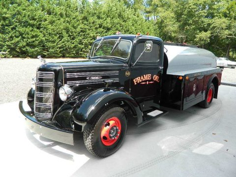 newer chassis 1948 Mack EF oil custom truck for sale