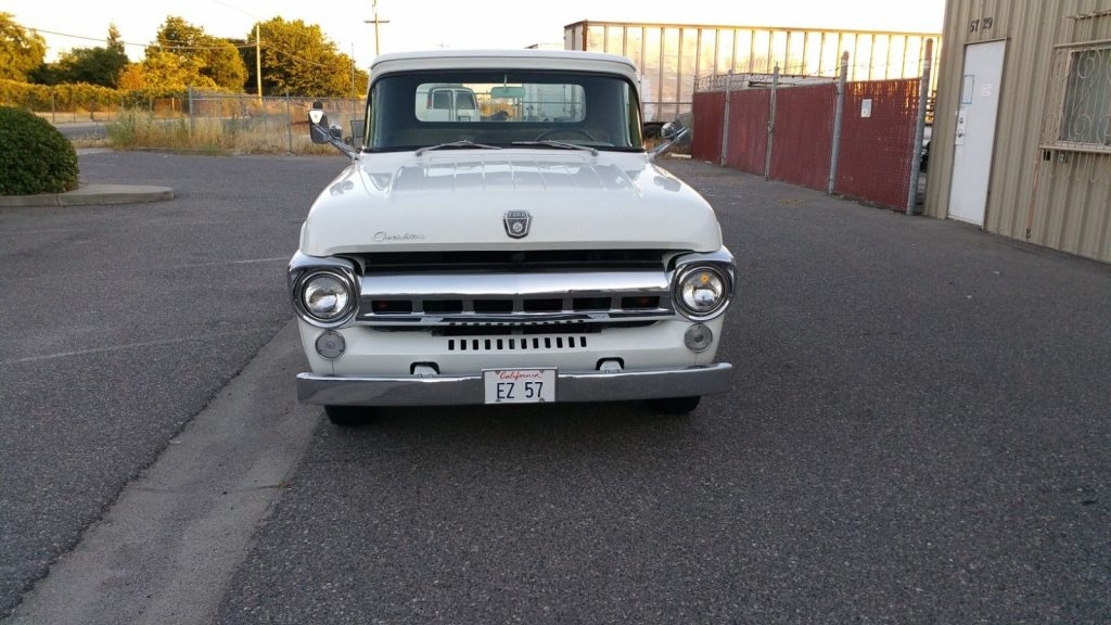 custom engine 1957 Ford F 100 Custom Cab custom