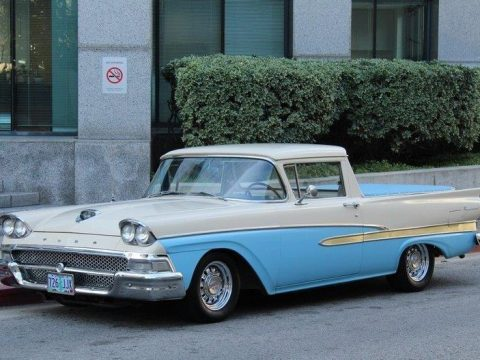 fully restored 1958 Ford Ranchero Deluxe Trim custom for sale