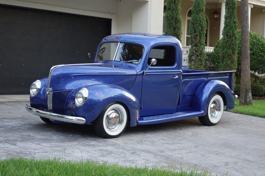 restored 1940 Ford Pickup custom