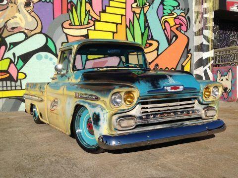 nice patina 1959 Chevrolet C 10 Apache Pickup custom for sale