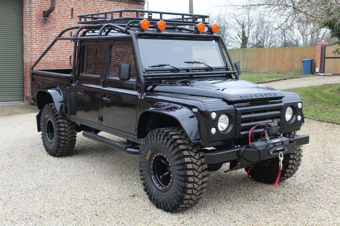 wonderful 1994 Land Rover Defender 130 Spectre 007 custom