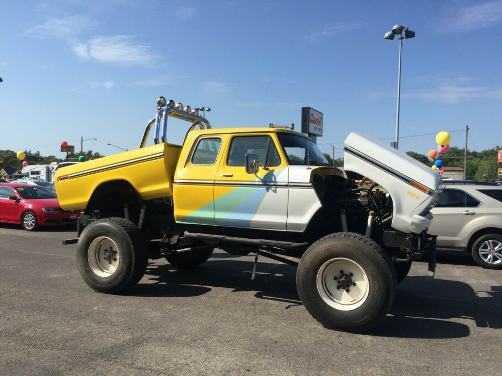 monster 1977 Ford F 250 xlt custom truck