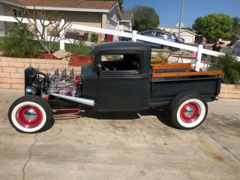 older build 1934 Ford Model A pickup custom for sale