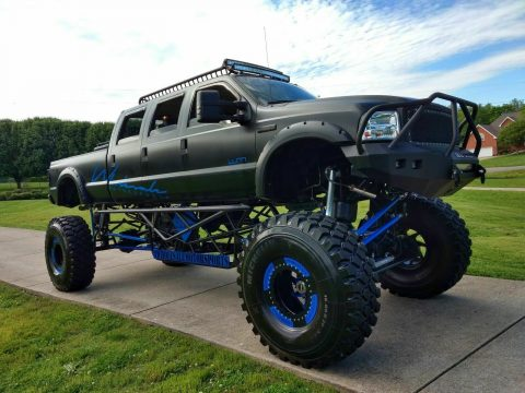 stretched 2005 Ford F 350 Stretched 6 Door custom truck for sale