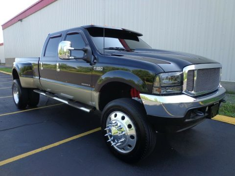 lifted 2001 Ford F 350 Lariat dually pickup custom for sale